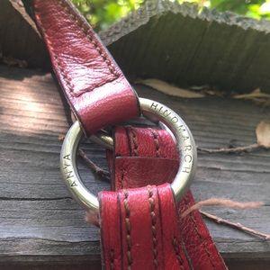 Anya Hindmarch Bags - Anya Hindmarch Red Leather Handbag